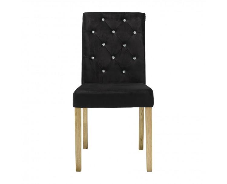 Paris Chair Black Velvet Pack of 2