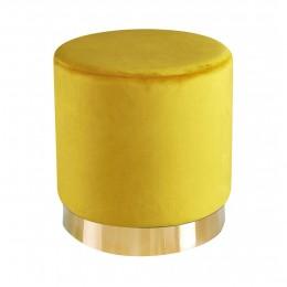 Lara Pouffee Ochre Yellow Velvet