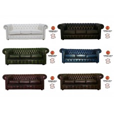 Chesterfield 100% Genuine Leather Three Seater Sofa Collection