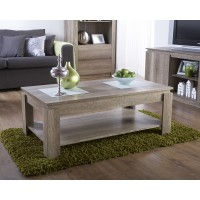 Canyon Coffee Table Oak Living Room Rustic 3D Oak Effect