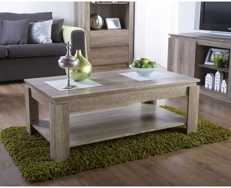 Canyon Coffee Table Oak Living Room Rustic 3D Oak Effect ... Part 35