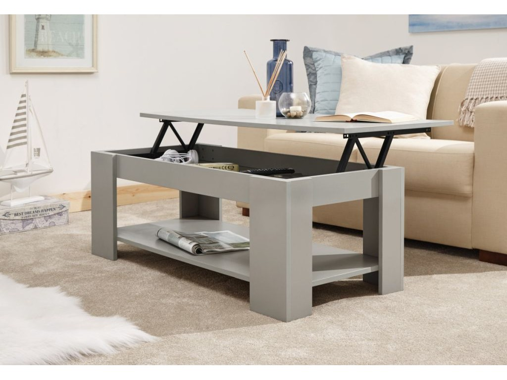 Peachy Multi Storage Classic Grey Living Room Lift Up Top Coffee Table Caraccident5 Cool Chair Designs And Ideas Caraccident5Info