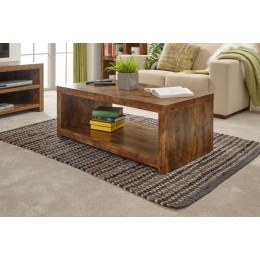 Traditional Chunky Mango Jakarta Shelf Coffee Table