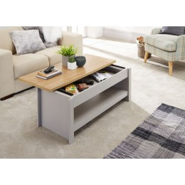 Modern Lancaster Living Room Grey Sliding Top Coffee Table