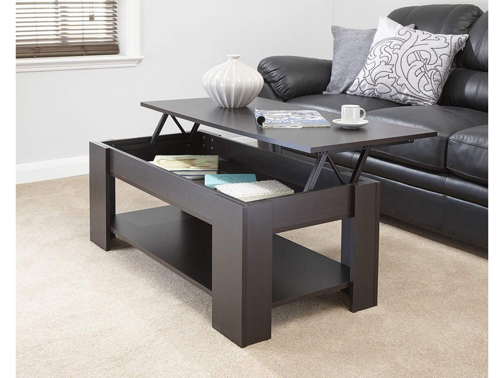 Incredible Espresso Julie Lift Up Top Coffee Table With Storage Living Room Uwap Interior Chair Design Uwaporg