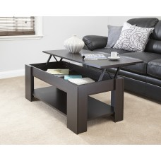 Julie Lift Up Top Coffee Table Espresso Quality Finish