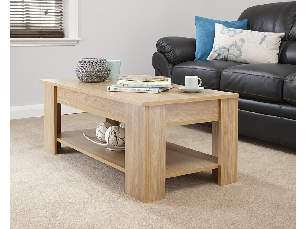 julie living room lift up top storage coffee table in oak