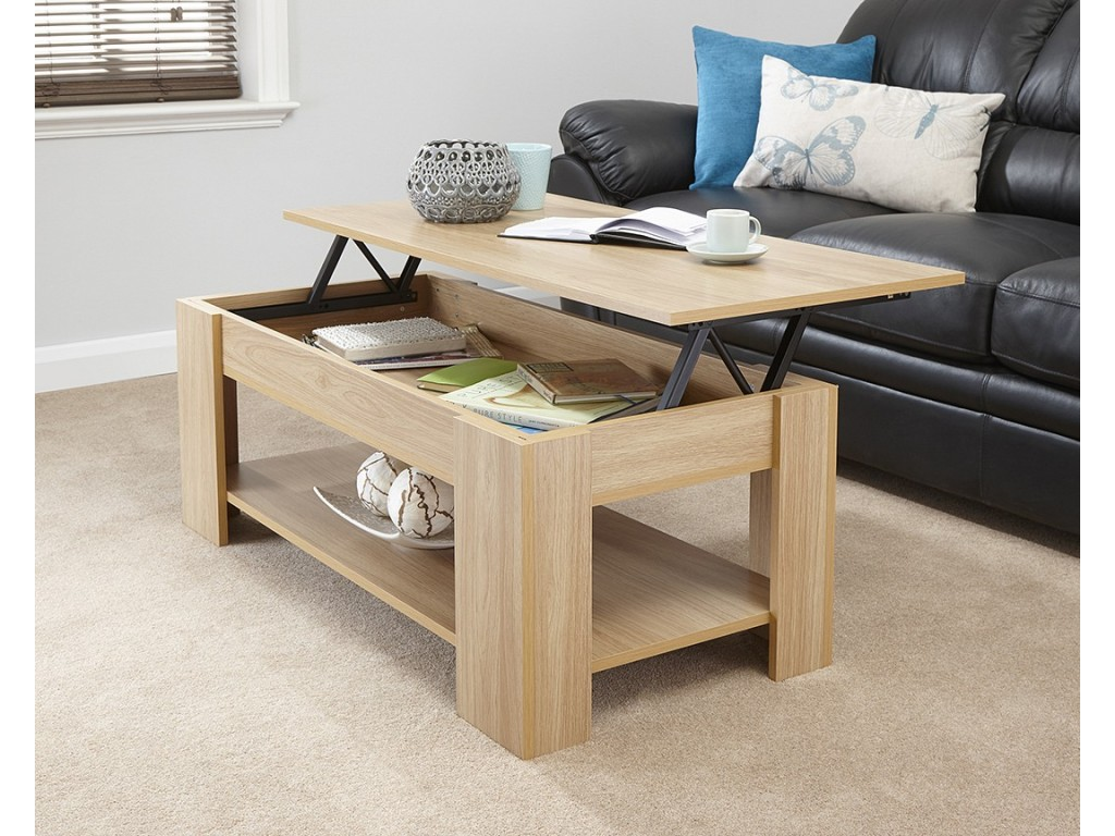 Remarkable Julie Living Room Lift Up Top Storage Coffee Table In Oak Finish Uwap Interior Chair Design Uwaporg