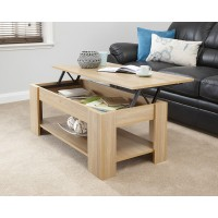 Julie Lift Up Top Coffee Table In Oak Quality Finish