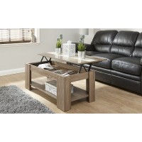 Alcott Lift Up Walnut Coffee Table With Cream High Gloss Strip