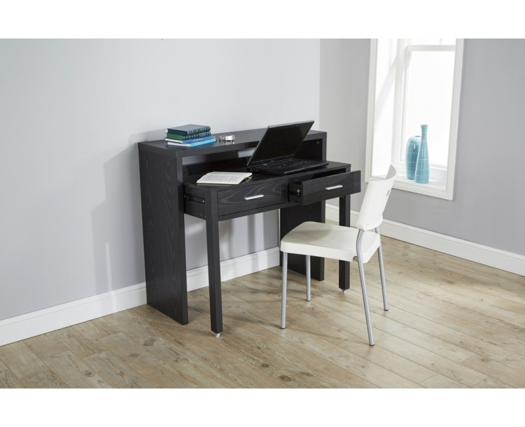 Regis Extending Modern Console Table in Black