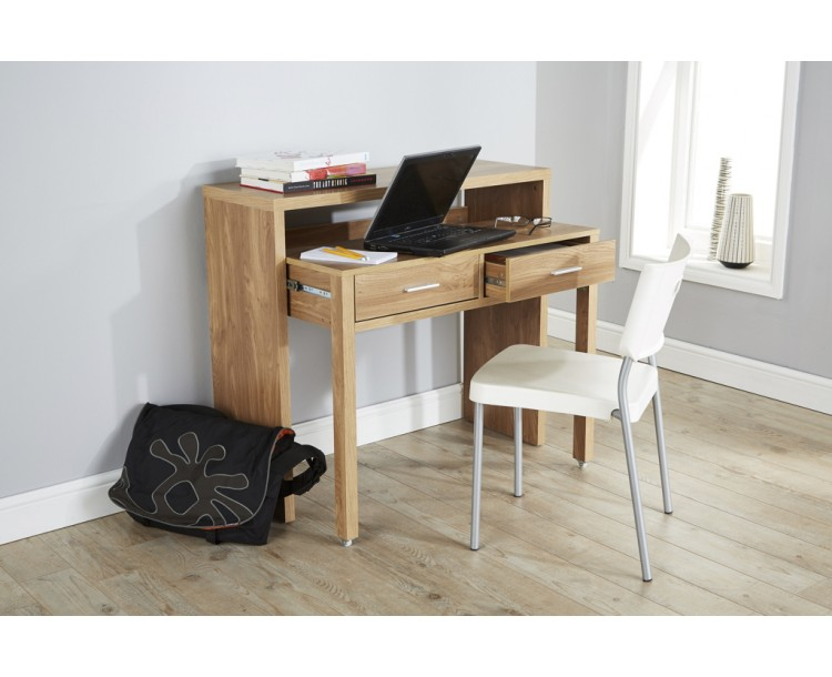 Extendable Regis Modern Storage Oak Table