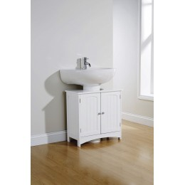 Colonial Modern White Bathroom Under Sink Cabinet