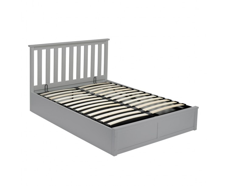 Oxford Grey Under Bed Storage 4FT6 Double Bed Grey