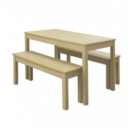 Compact Ohio Dining Set Oak Bench Design