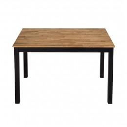 Copenhagen Dining Table Black Frame-Oiled Wood