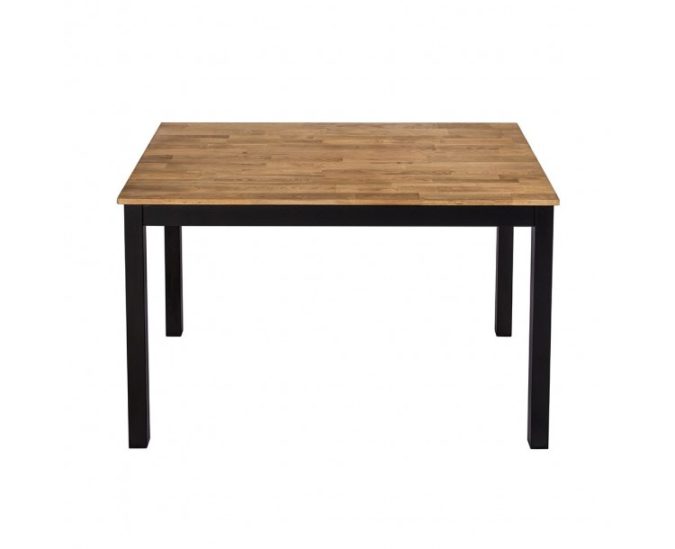 Copenhagen Dining Table Black Frame-Oiled Wood