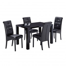 Monroe PUro Medium Dining Table Black