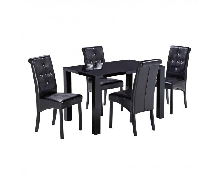 Monroe PUro Medium Dining Table Black
