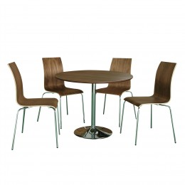 Soho Dining Set Walnut Veneer