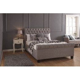 Layla 4FT6 Double 135cm Ottoman Bed Bedstead Silver