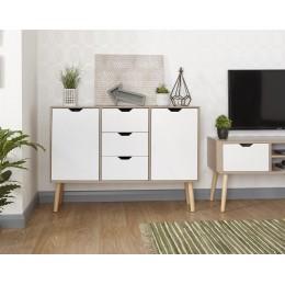 Stockholm Living Room Sideboard White Oak