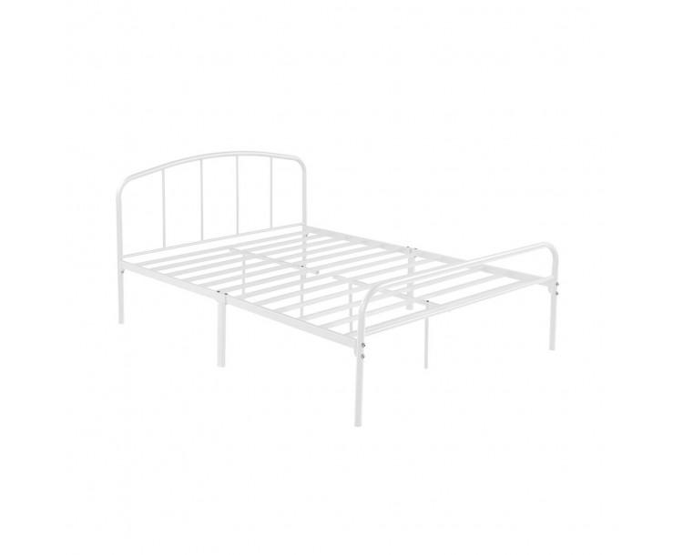 Milton White Stylish Compact 4FT6 Double Bed White