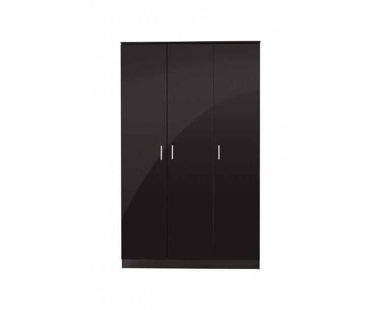 Ottawa 3 Door Wardrobe Bedroom Furniture Black