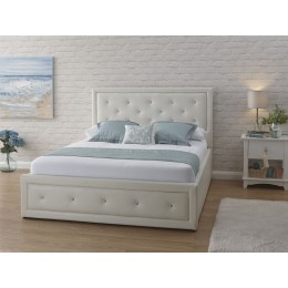Hollywood 4ft6 Double Bed 135cm Bedframe Gas Lift White