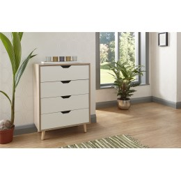 Stockholm 4 Drawer Chest Bedroom Furniture White Oak