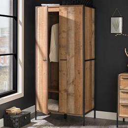 Hoxton 2 Door Wardrobe Distressed Oak Effect
