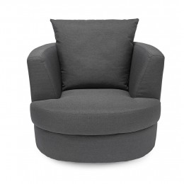Bliss Small Swivel Chair Grey