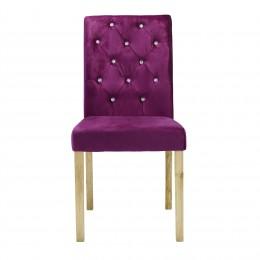 Paris Chair PUrple Velvet Pack of 2