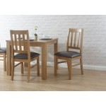 Sherwood Faux Leather Pair Dining Chairs with Oak finish