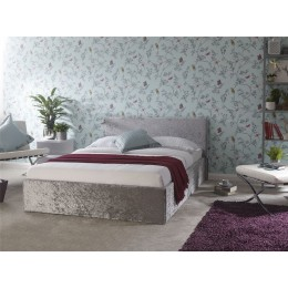 4ft 6 Double Side Lift 135cm Bed Crushed Velvet Bedstead