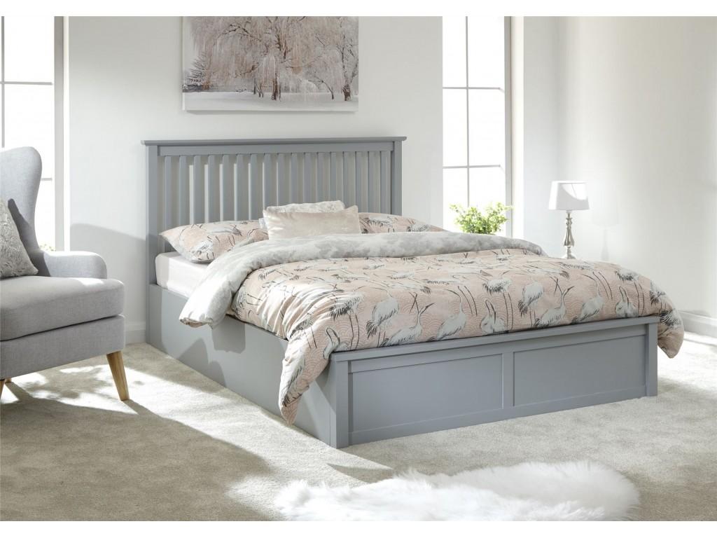 Excellent Modern Como Single 3Ft 90Cm Wooden Grey Lift Storage Ottoman Bed Inzonedesignstudio Interior Chair Design Inzonedesignstudiocom
