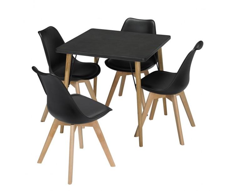 Mercer Dining Table Black Faux Concrete
