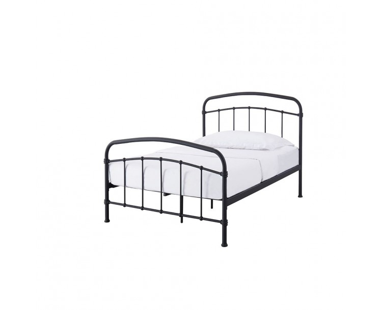 Halston Black Metal 3FT Single Bed