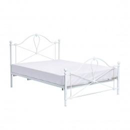 Bronte White Metal 5FT Kingsize Bed