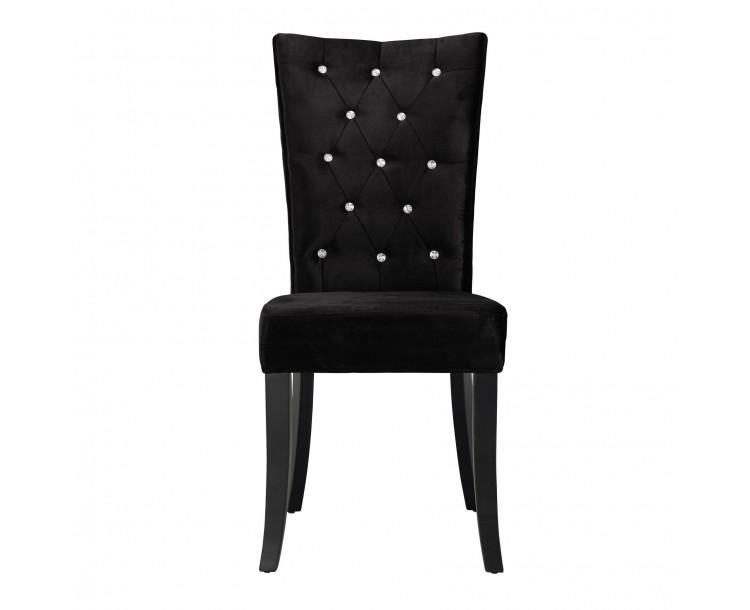 Radiance Dining Chair Black Velvet Pack of 2
