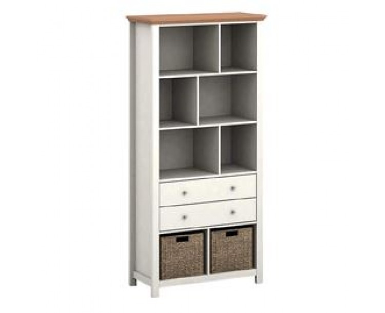 Costwold Cream Bookcase 6 Stoarge Openings