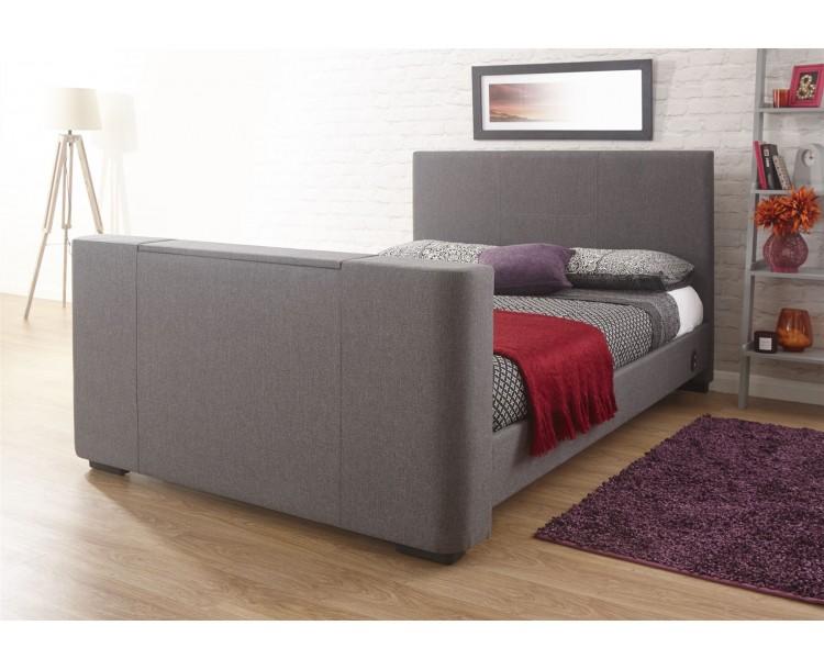 Newark 5FT Kingsize 150cm Electric TV Bed Grey