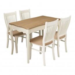 Juliette CreamOak Top Dining Table
