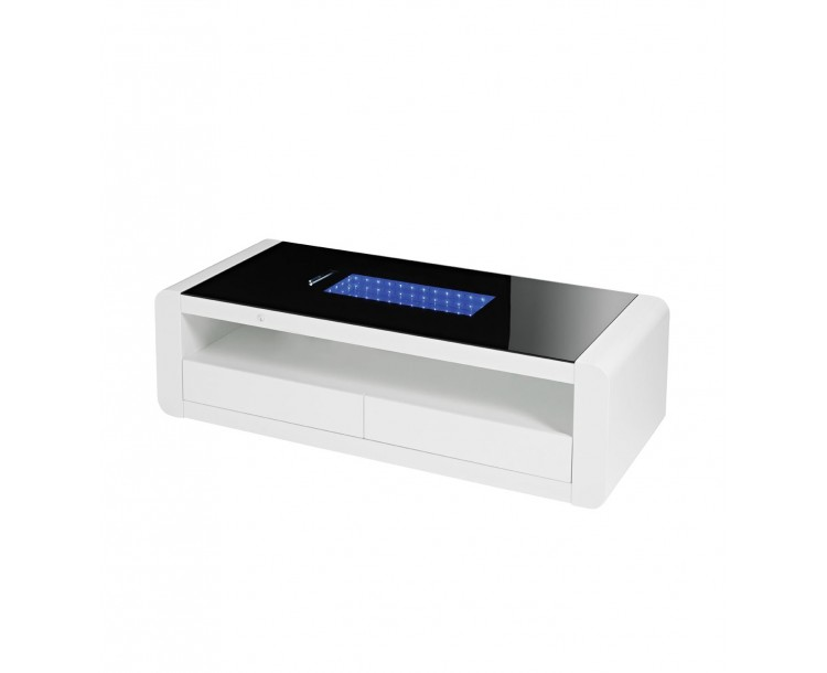 Matrix Coffee Table with LED Light