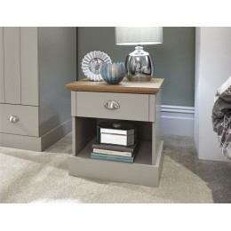 Kendal 1 Drawer Bedside Grey