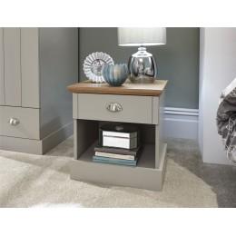 Kendal Grey Bedroom 1 Drawer Bedside