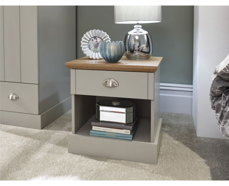 Kendal Grey Bedroom 1 Drawer Bedside