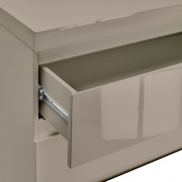 Puro Stone High Gloss 2 Drawer Bedside