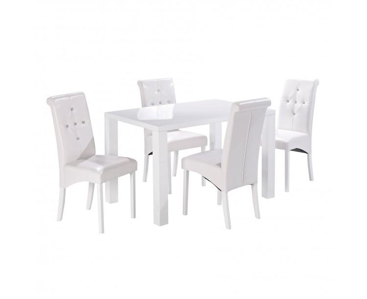 Monroe PUro Medium Dining Table White
