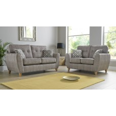 Maya Grey 3+2 Seat Deep Fill Fabric Living Room Sofas